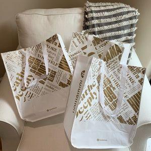 3 Large Lululemon Bags